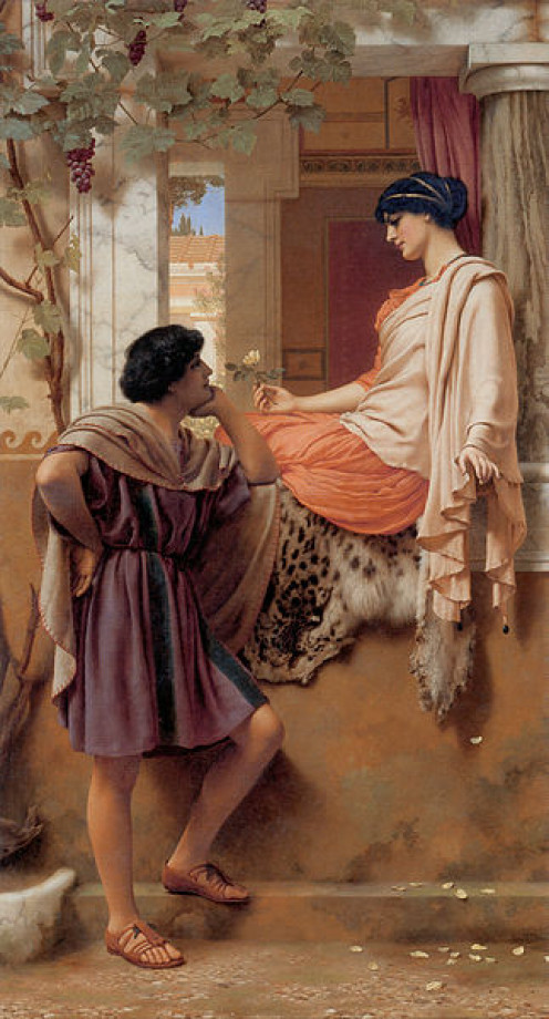 """The Old, Old Story"" by John William Godward. 1903"