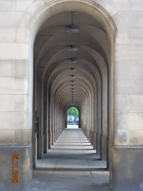Arches at the front of the Town Hall Extension