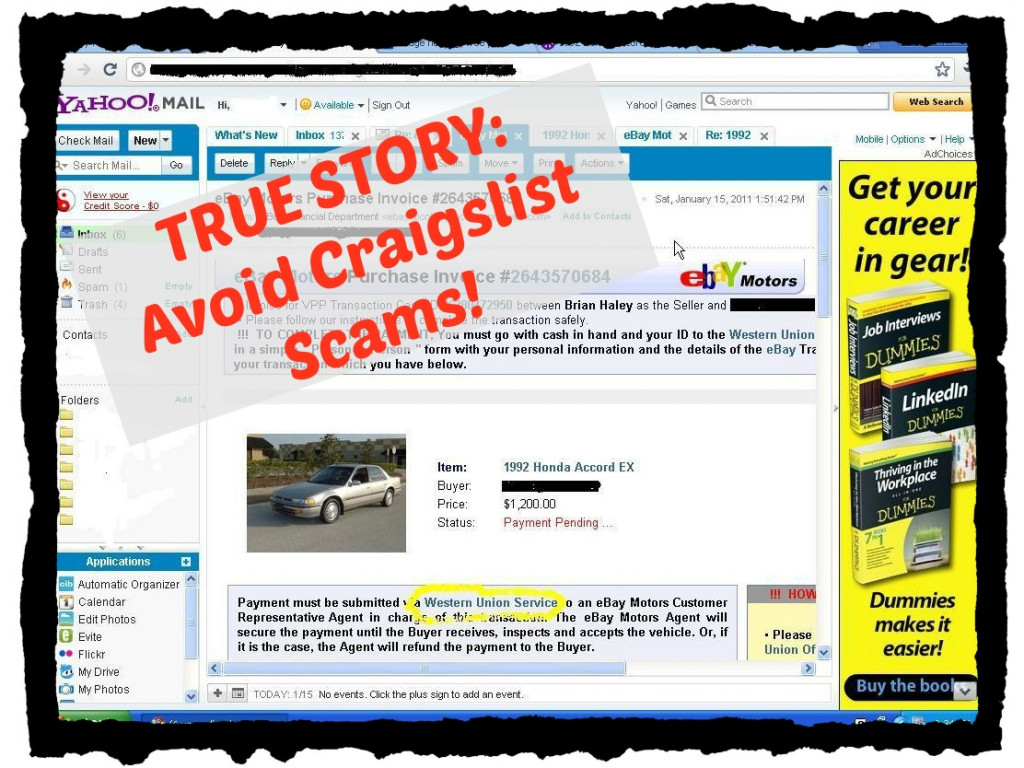 Craigslist Car Scams on the Internet - a True Story | HubPages