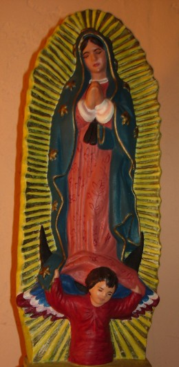 Statue of Our Lady of Guadalupe, as Mary appeared to St. Juan Diego of Mexico in 1531