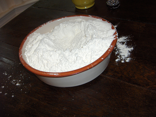 Bowl of flour by Joanna Bourne on Flickr