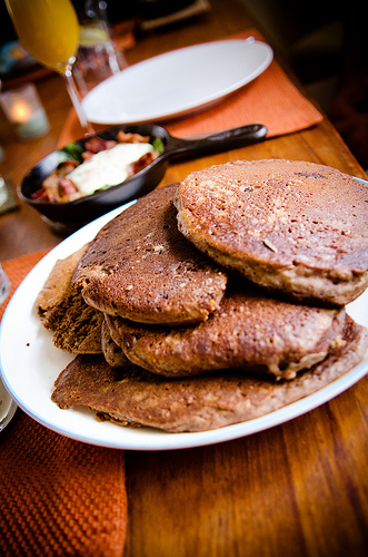 Buckwheat pancakes by StephenLukeEdD on Flickr