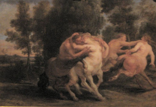 """Centaurs Embracing"" by Peter Paul Rubens (1577–1640)"