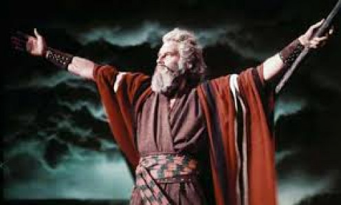 The Ten Commandments was released in 1956 and it tells the story of Moses and The 10 Commandments.