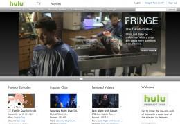 Homepage of Hulu.com