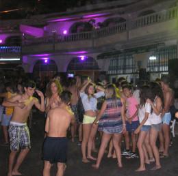 Disco dancing on the beach on Noche de San Juan in Playa San Marcos