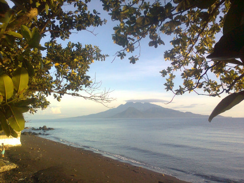 A photo of the island taken from the starting point of your adventure. Start a coast to coast adventure.