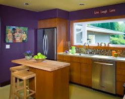 Try purple walls in your kitchen!