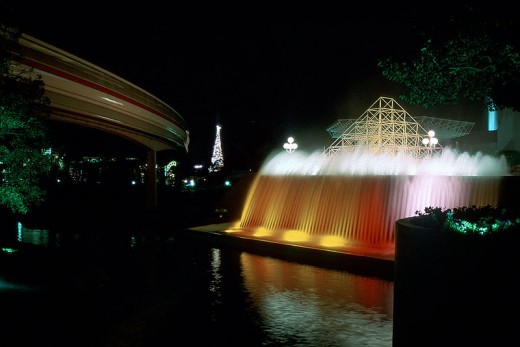 "Water ""Up"" with EPCOT Christmas Tree in Background."