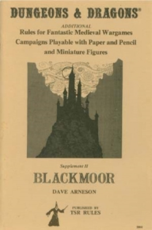The original Blackmoor supplement for Dungeons and Dragons. Blackmoor was Arenson's precursor to D&D