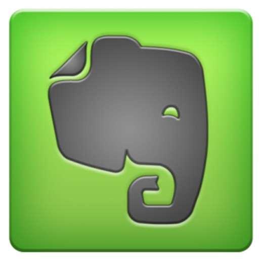 Evernote for iPhone 5 logo