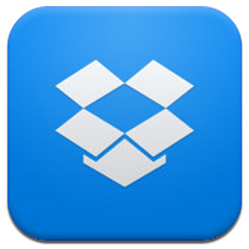 Dropbox for iPhone 5 logo