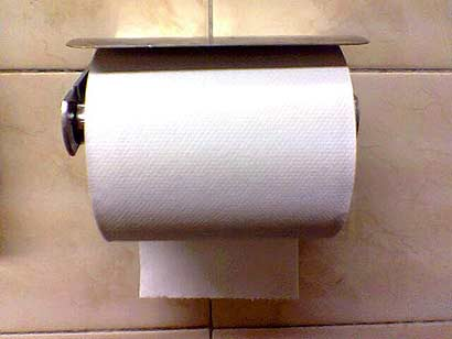 Toilet Paper Roll - Is under your preferred way?