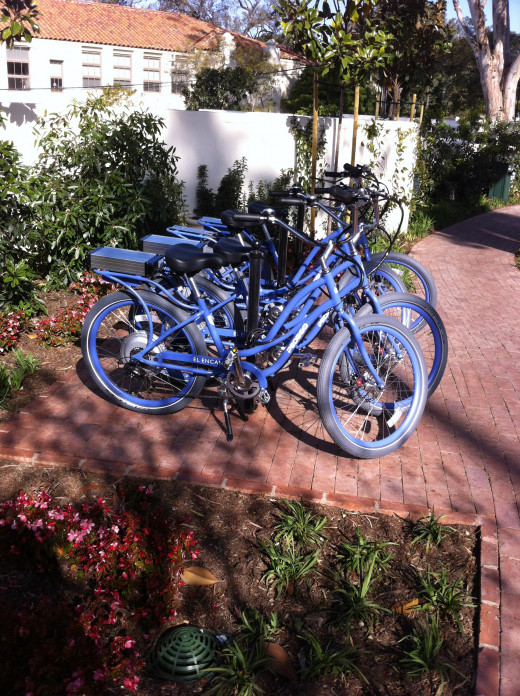 The resort offers bikes for guests to explore Santa Barbara.