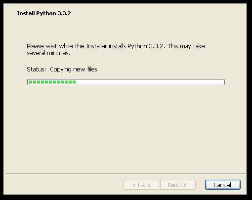 Installing Python.