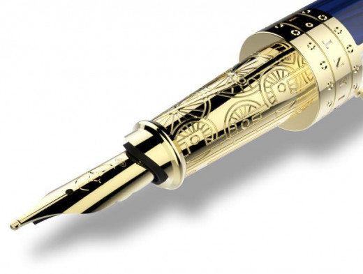 S.T. Dupont Orient Express Prestige Collection Fountain Pen - Detail of nib set