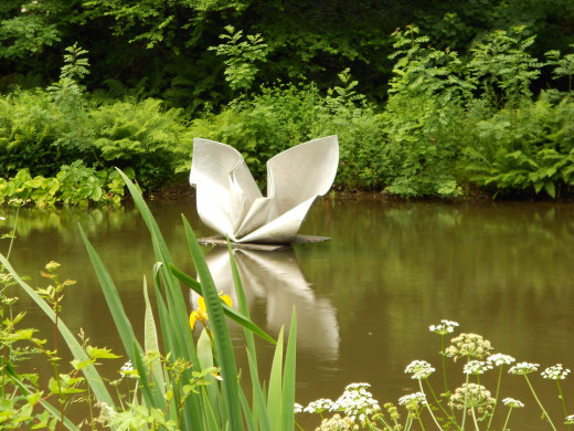 A beautiful floating sculpture