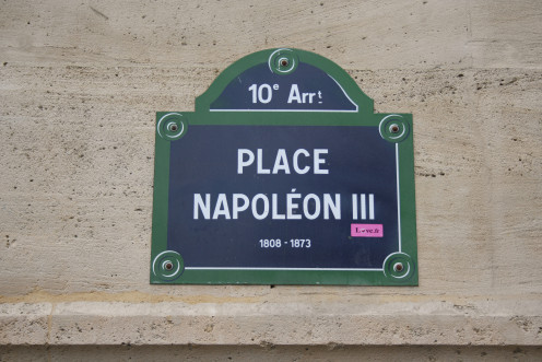 Street sign, Place Napoléon III, Xth 'arrondissement'. Paris