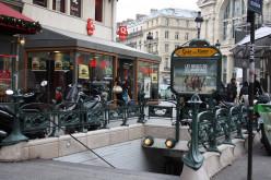 Gare du Nord Metro entrance at Intersection of Place Napoléon III and Boulevard de Denain at Gare du Nord, Paris