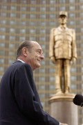 DE GAULLE SQUARE, MOSCOW. French President Jacques Chirac speaking at the unveiling of a monument to General Charles de Gaulle.