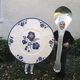 Dish and spoon costume is great for couples and friends