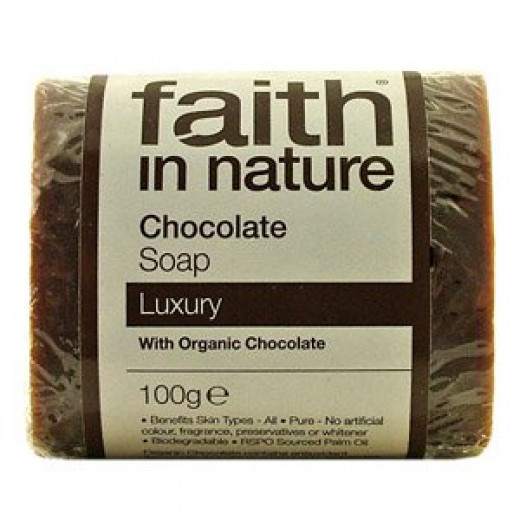 Luxury Chocolate Soap by Faith in Nature 100g