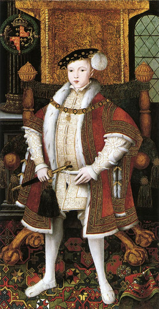 Edward VI was just nine years old when he had the weight of the country on his shoulders