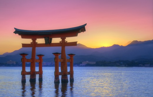 Otori Gate in Miyajima, Japan