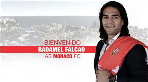 Rademal Falcao. Ligue 1's most expensive player