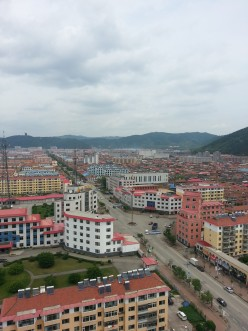 A small town in  northern China
