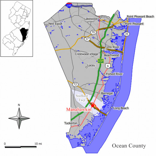 Mantoloking is located on Route 35 about four miles southeast of Point Pleasant.