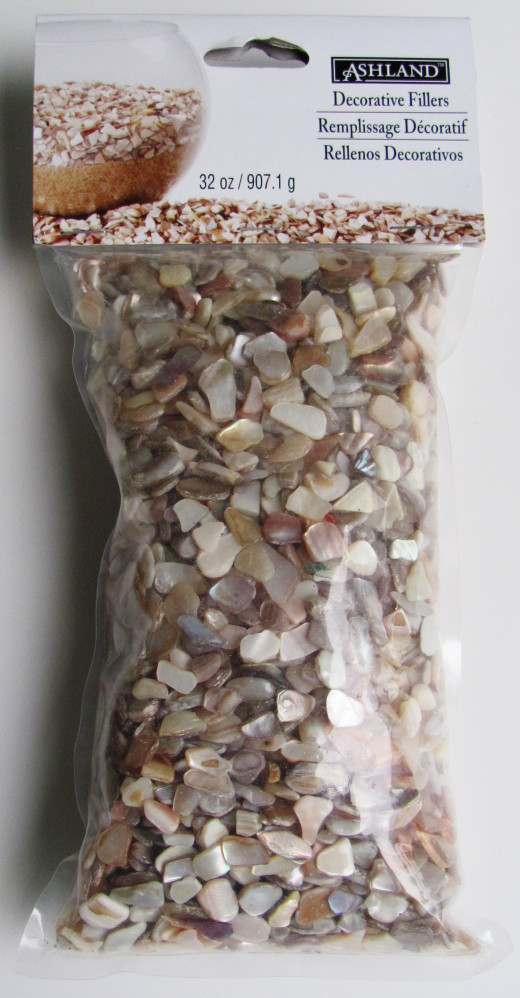 Crushed seashells can be obtained at craft stores, or you can collect your own at the beach.