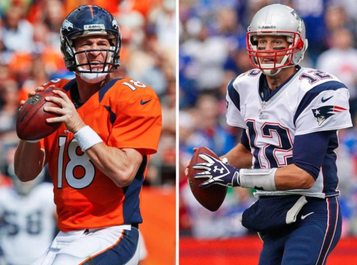 Future Hall of Famers Peyton Manning and Tom Brady are poised to take their teams to the top of the AFC.