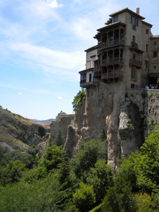 Hanging houses in Cuenca, Spain. Getting a mortgage for this home might be problematic.