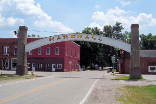 The Arch in Marshall, the closest town to Turkey Run State Park