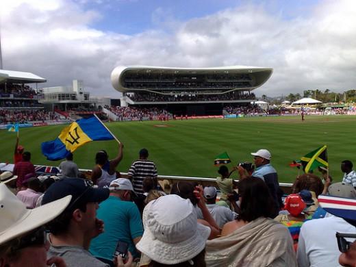 Cricket at Kensington Oval.