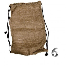 After you are left holding the bag when the big boys come marching in unexpectedly, a gunny sack can also be used to create makeshift articles of clothing on a tight budget.