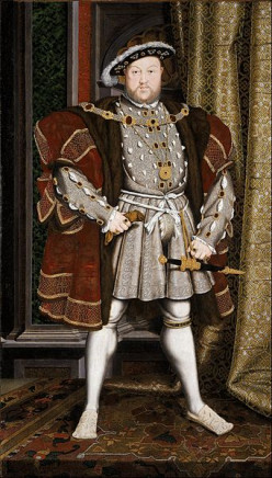 Holbein's portrait of Henry VIII. Power dressing in spades.