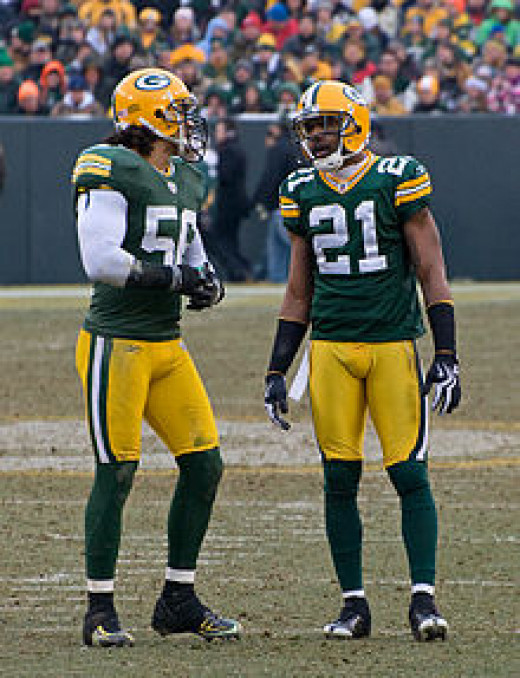 Charles Woodson together with Nick Barnett around 2009
