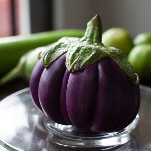 A new segmented variety of aubergine from Thailand.