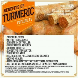 Some health benefits of turmeric. Turmeric in curry and many Indian foods. Click on picture for sharper image.