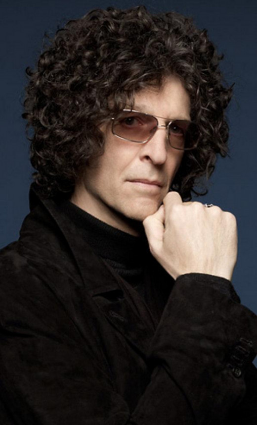 Howard Stern as we often see him, and don't see him behind his shades.