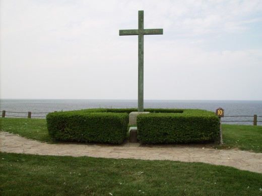 Millet Cross at Old Ft Niagara.  Cross is located on the spot within the fort where Jesuit Missionary and French Army Chaplain, Pierre Millet first erected a cross on Good Friday 1688.