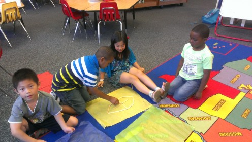 Working together was a part of our social skills curriculum.