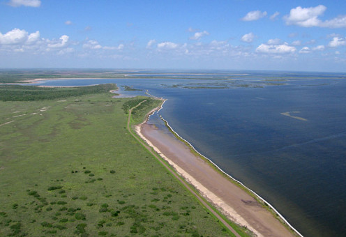 Aerial view of the Laguna Madre