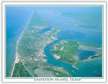 Beautiful view of Galveston Island.