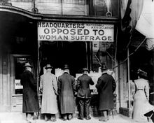 National Association Against women's suffrage- an association that was against women's right to vote