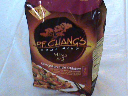 Bag of P.F. Chang's Mongolian style chicken