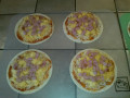 Gluten Free Mini Hawaiian Pizzas