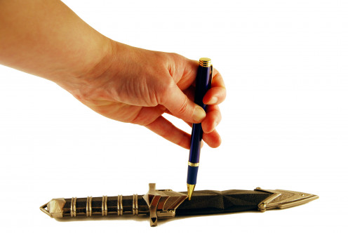 The pen is mightier than the sword...and the word is power